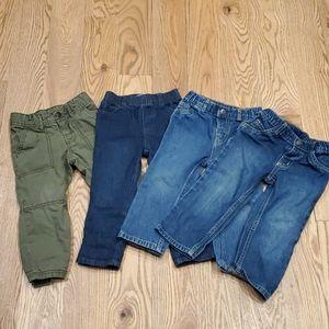 Lot of 4 EUC/GUC Toddler Pants